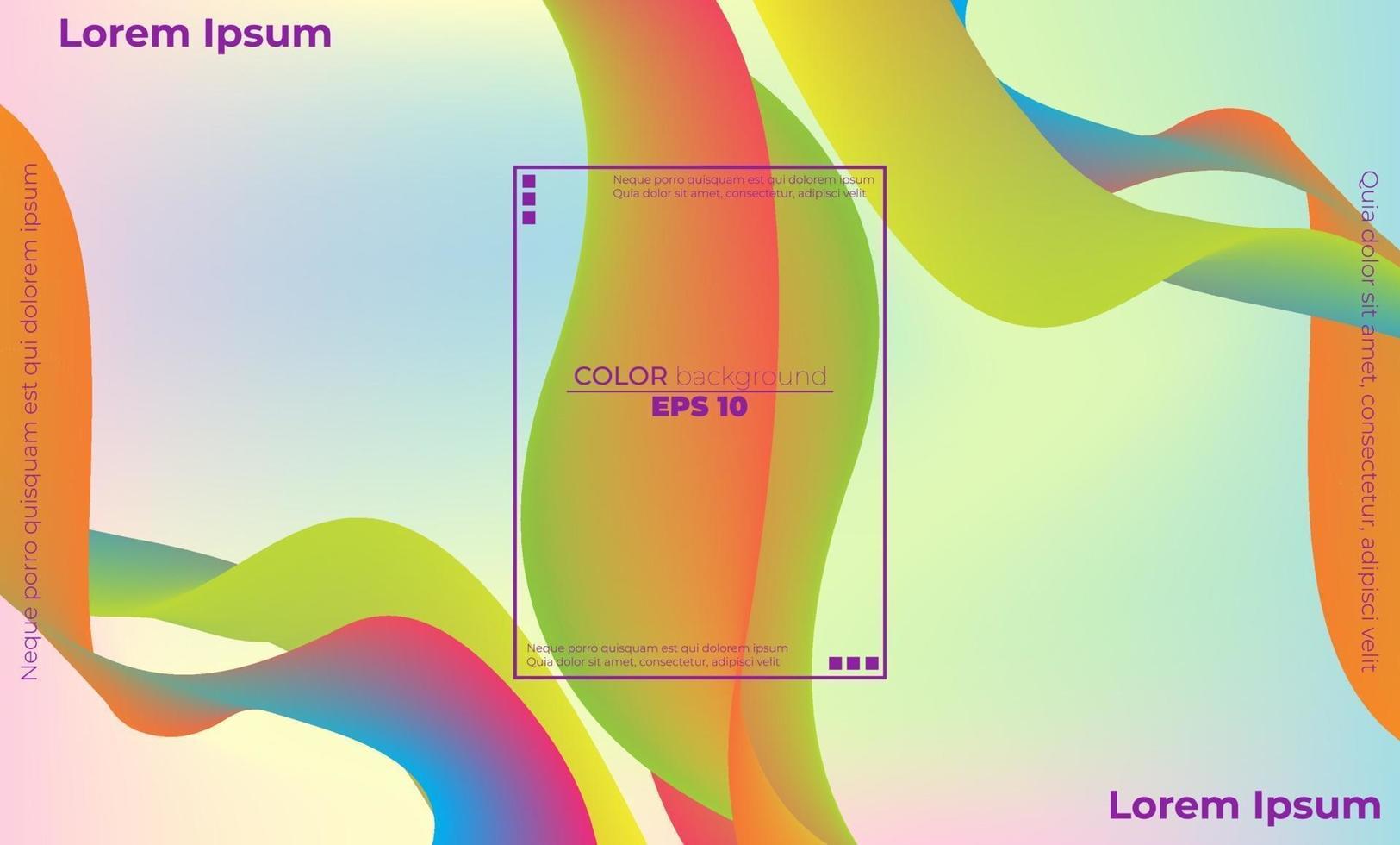 abstrakt flytande färgmönster av neonfärg flytande gradientbakgrund vektor