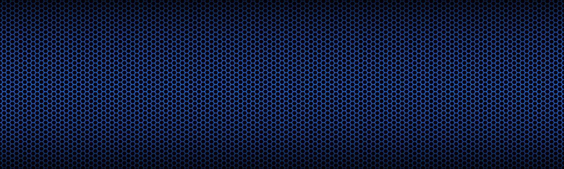 blå geometrisk rubrik med månghörnigt rutnät. abstrakt röd metallisk sexkantig banner. vektor illustration