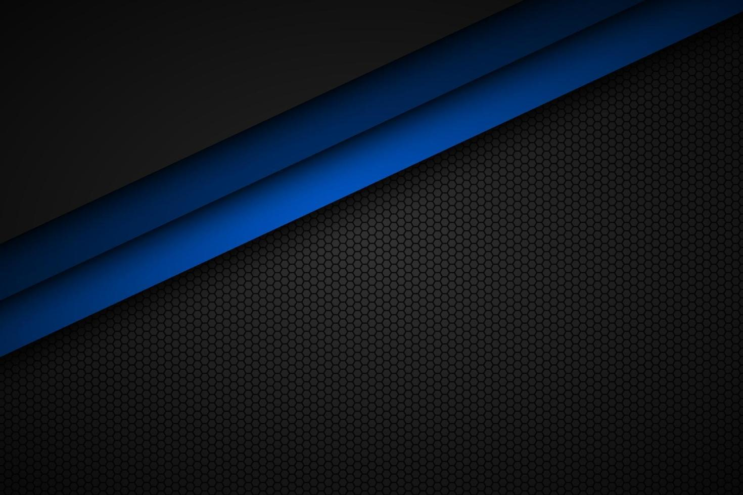 abstact blå linje vektor bakgrund med åttkantigt nät. överlappar lager på svart bakgrund med sexkantigt mönster