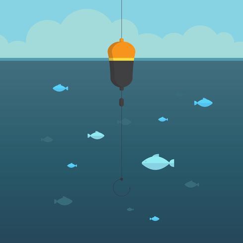 Djuphavsfiskillustration. vektor
