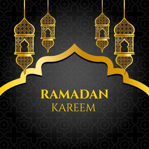 Guld Ramadan Kareem Vector