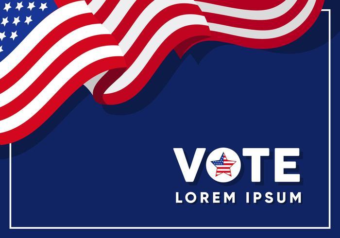 USA Kampagne Zeichen Vorlage vektor