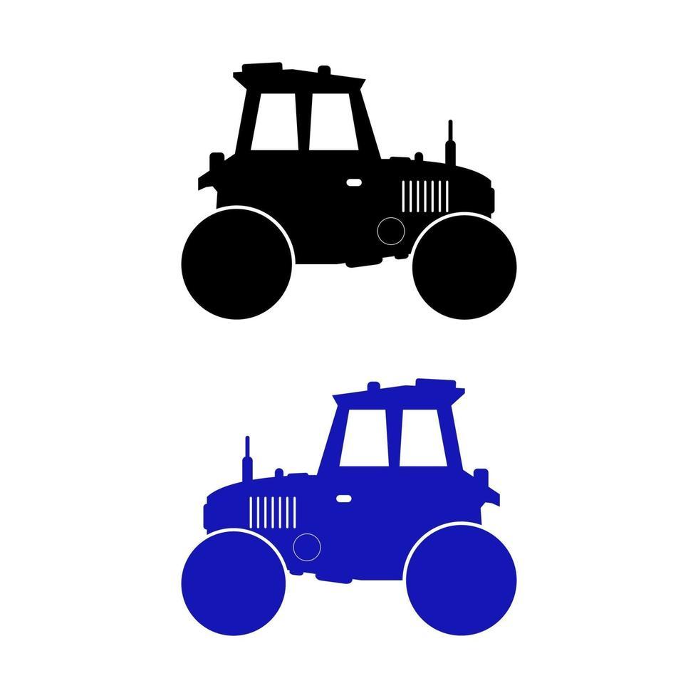 uppsättning av traktor på vit bakgrund vektor