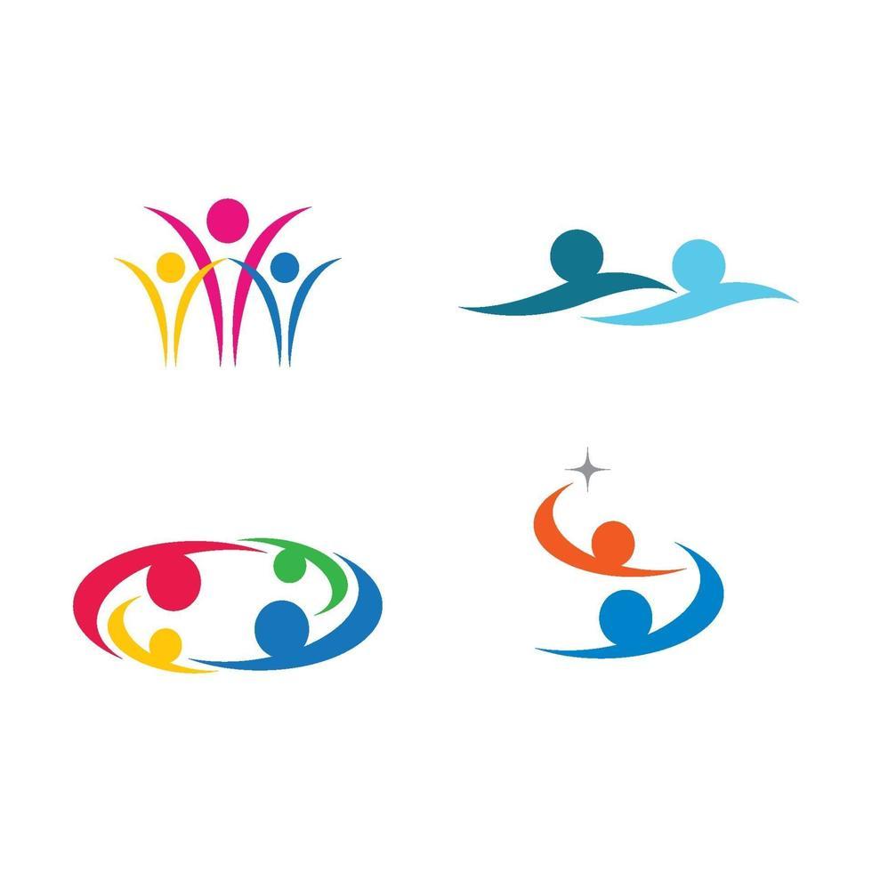 Community Care Logo Bilder Design vektor