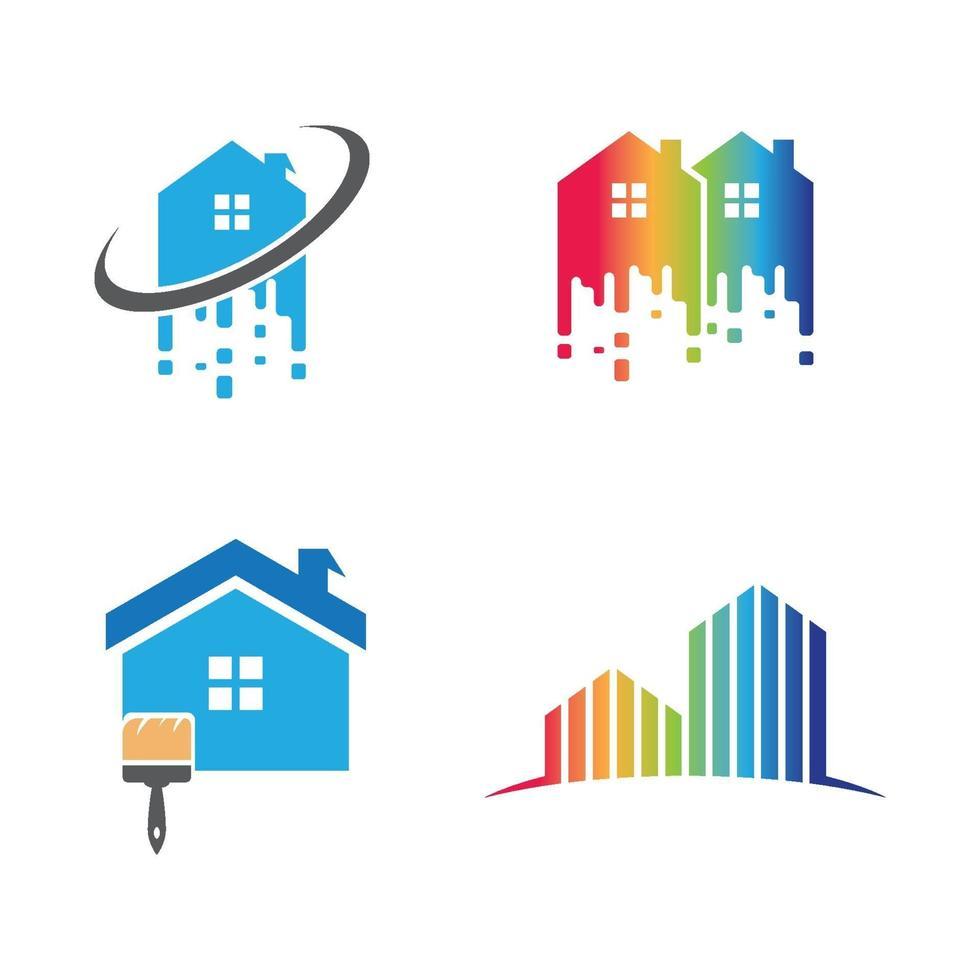 Pinsel Logo Bilder Illustration Set vektor