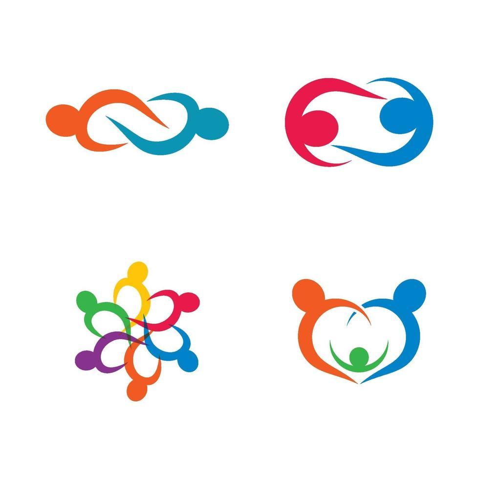 community care logo bilder design set vektor