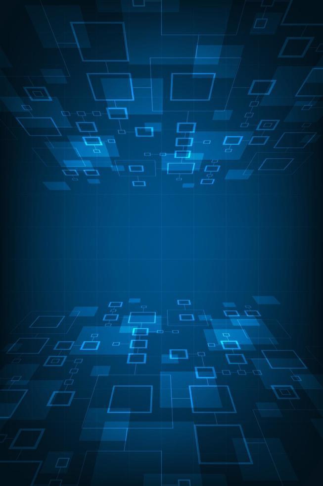 Vektor-Hintergrund-Technologie im Konzept der digitalen. vektor