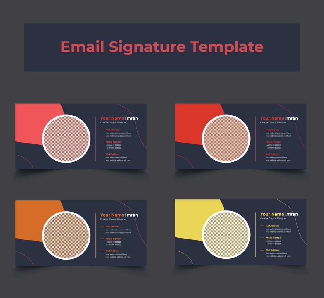 Vorlagenpaket für E-Mail-Signaturen von Unternehmen vektor