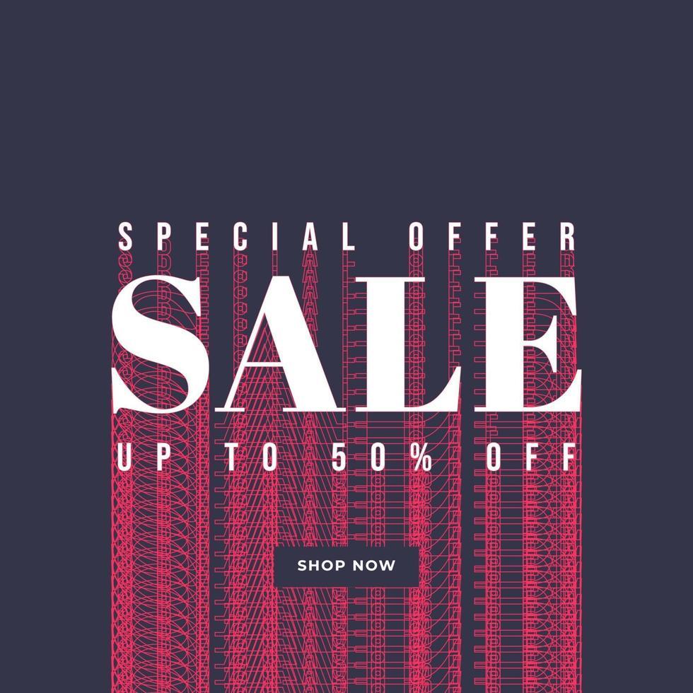 specialerbjudande försäljning banner mall. vektor