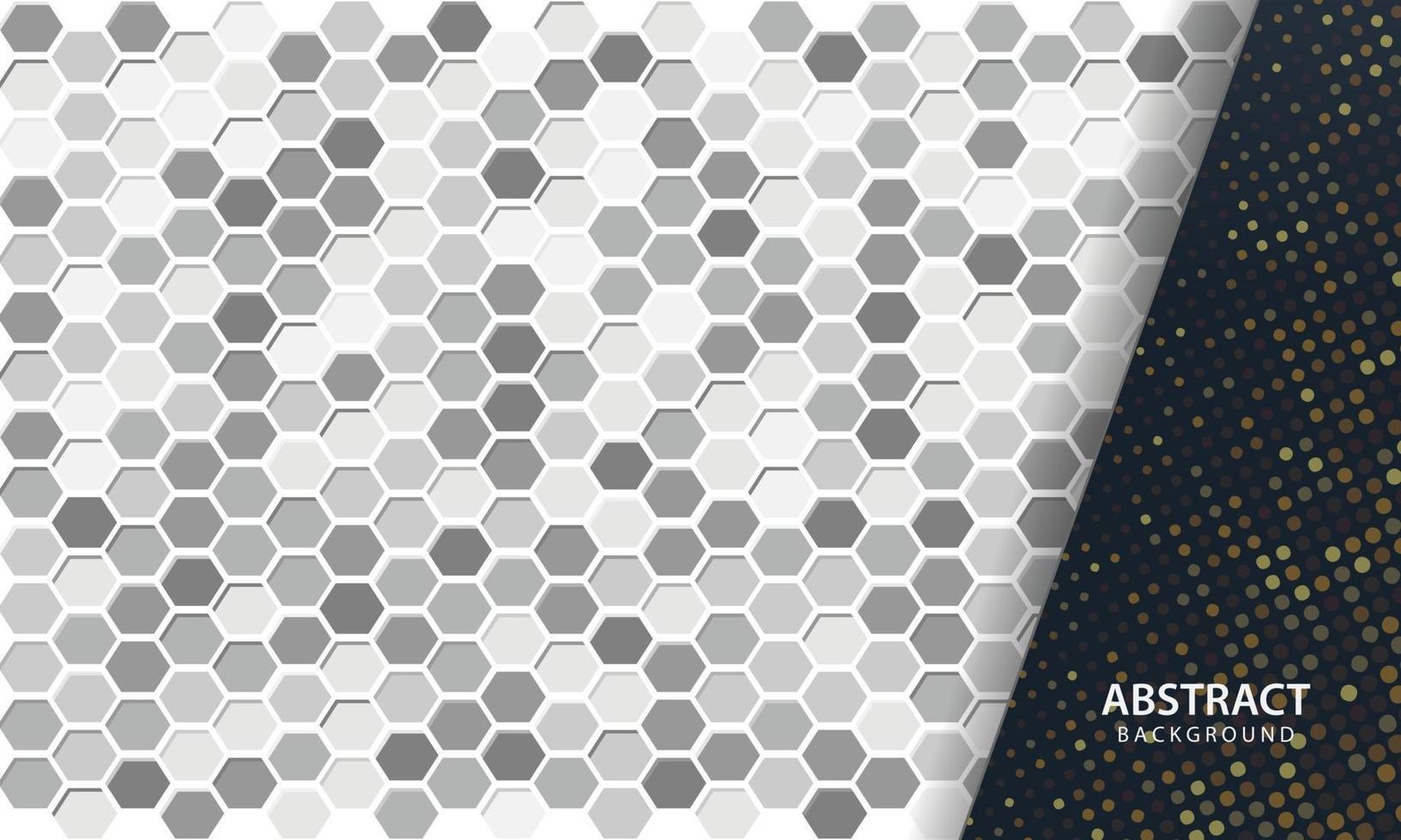 dunkler abstrakter Hintergrund mit schwarzen Überlappungsebenen. Textur mit sechseckigem strukturiertem Hintergrund. vektor