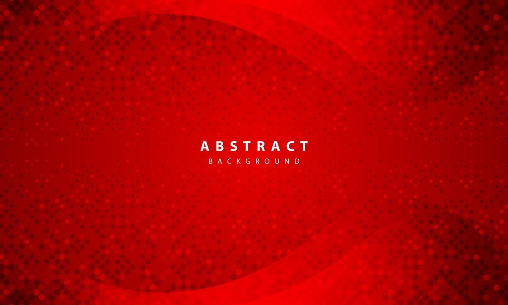 dunkler abstrakter Hintergrund mit roten Überlappungsebenen. realistische Textur mit goldener Glitzerpunkt-Elementdekoration. vektor