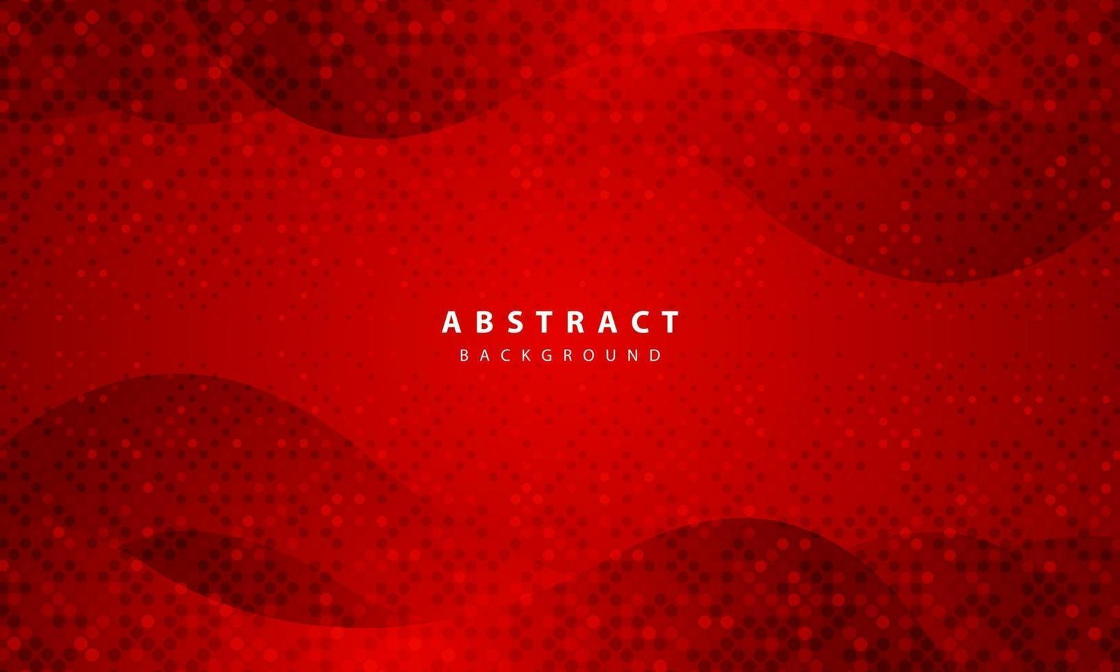 mörk abstrakt bakgrund med röda överlappande lager. realistisk konsistens med gyllene glitter prickar element dekoration. vektor