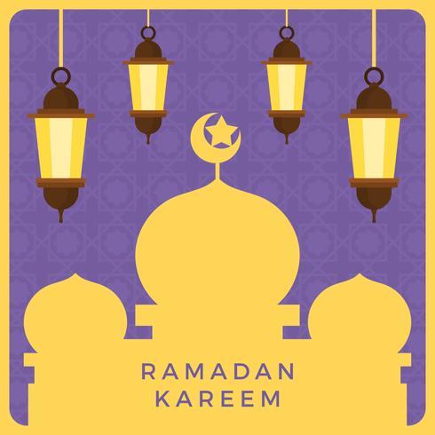 Flache Ramadan-Vektor-Illustration vektor