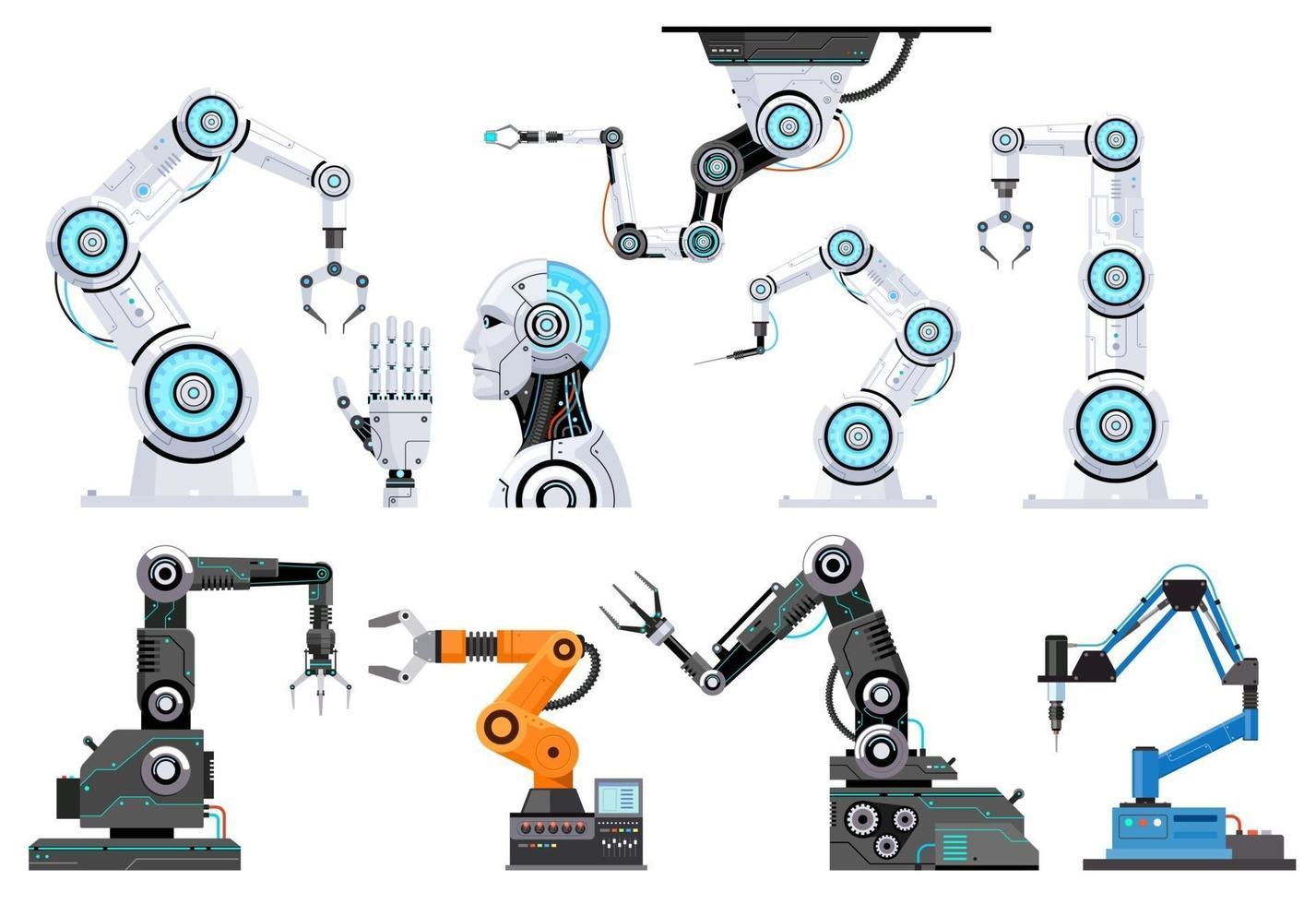 Robotertechnik Vektorillustration. vektor
