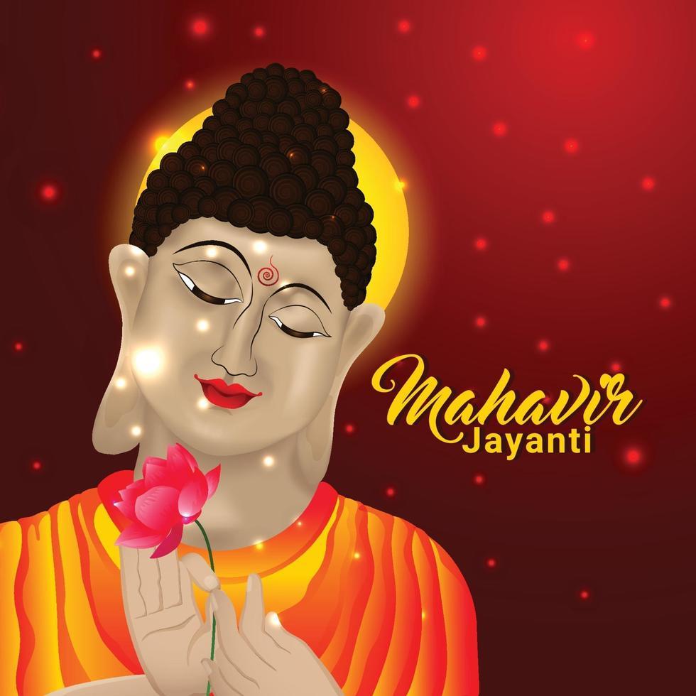 kreativ bakgrund av mahavir jayanti bakgrund vektor