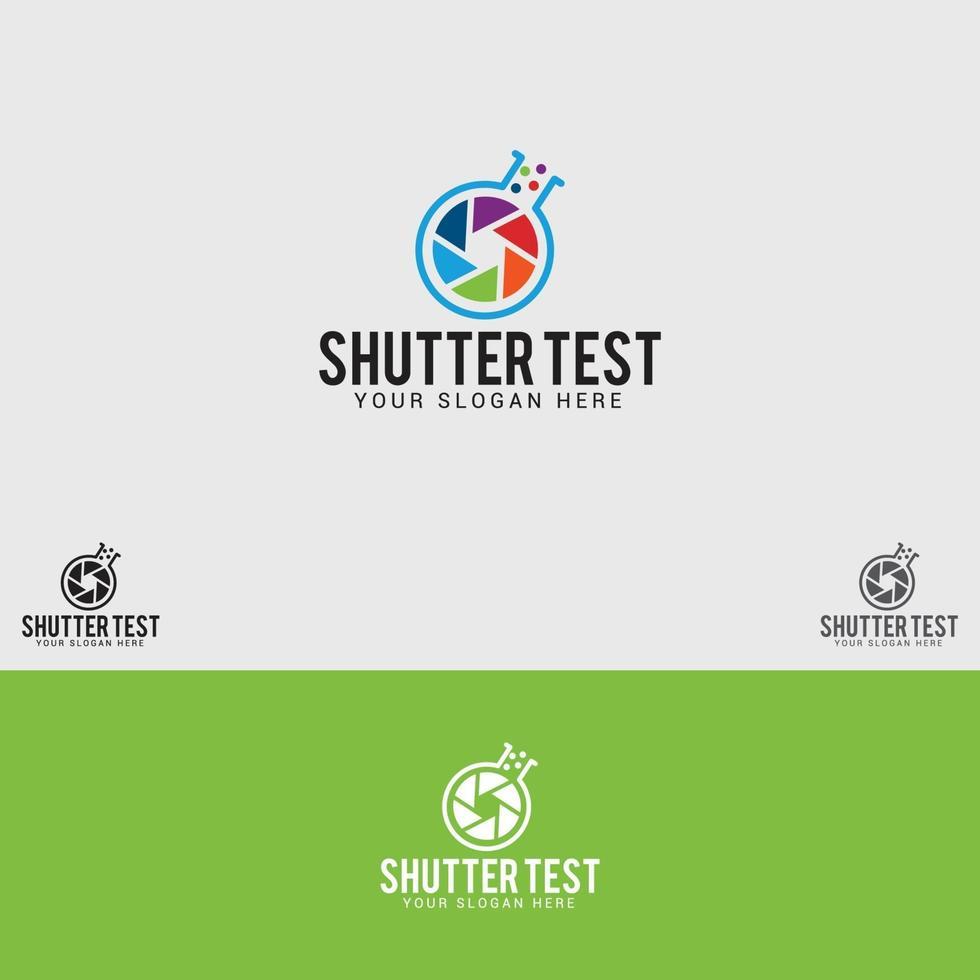 Shutter-Test Logo Design Vektor Vorlage