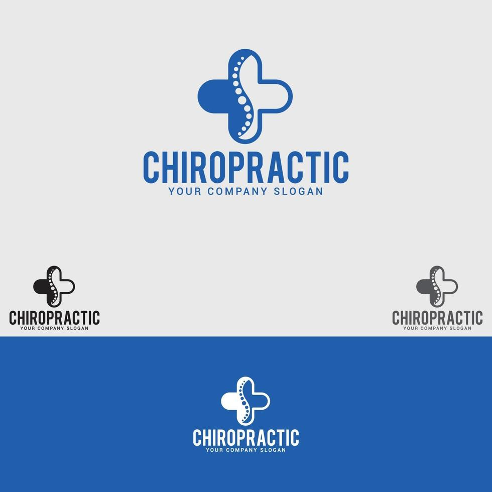 Chiropraktik Logo Design Vektor Vorlage