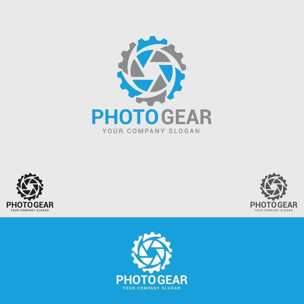 Foto-Gear Logo Design Vektor Vorlage