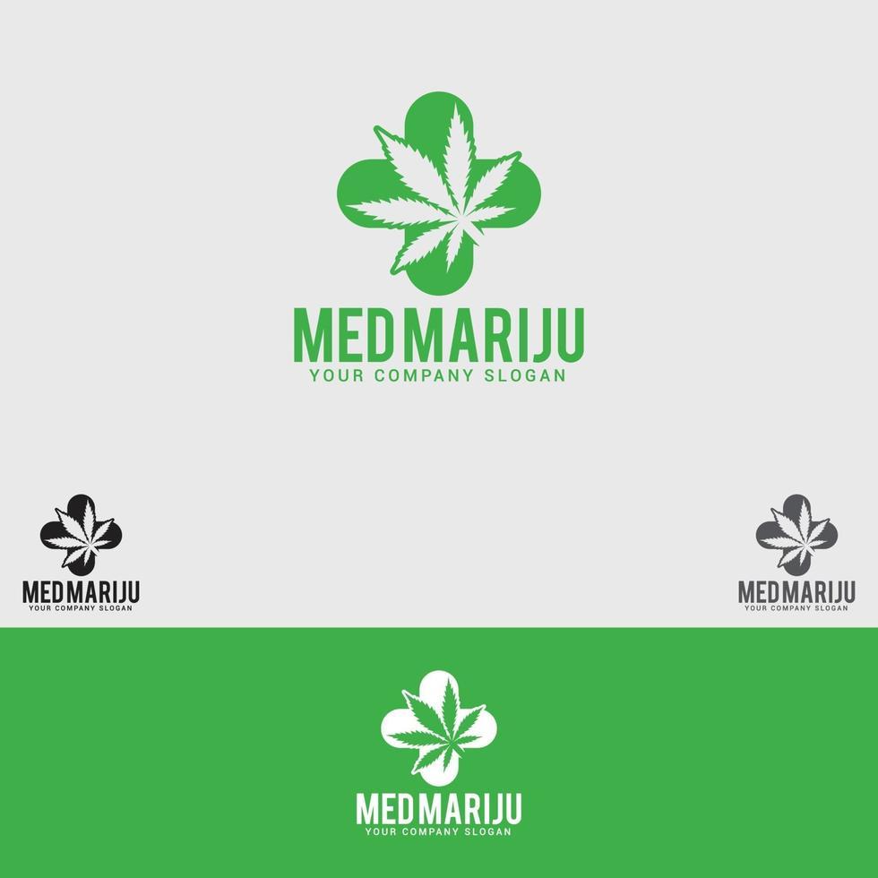 Design-Vorlage für das Med-Marihuana-Logo vektor
