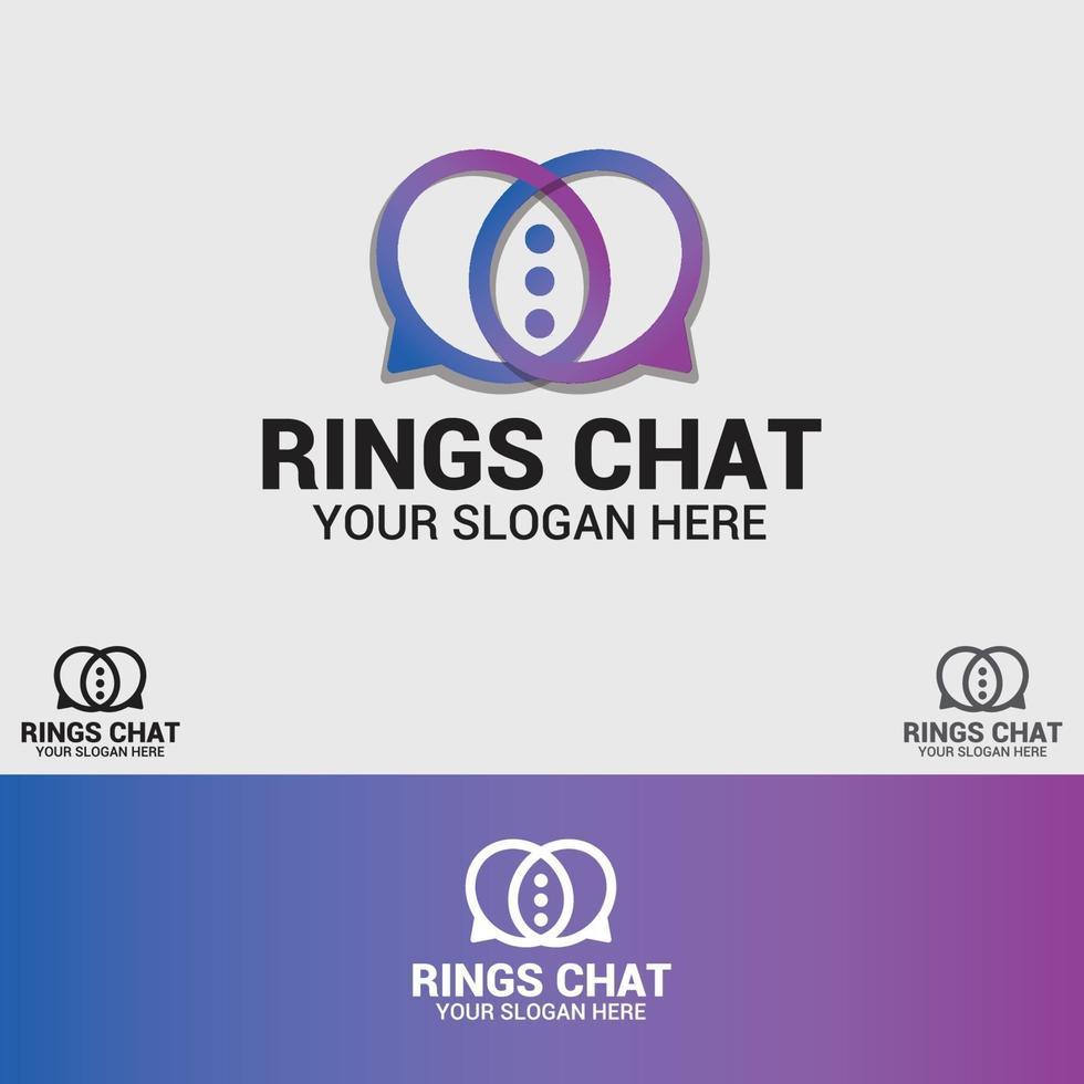 ringar logo design vektor mall