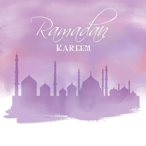 Akvarell Ramadan bakgrund vektor