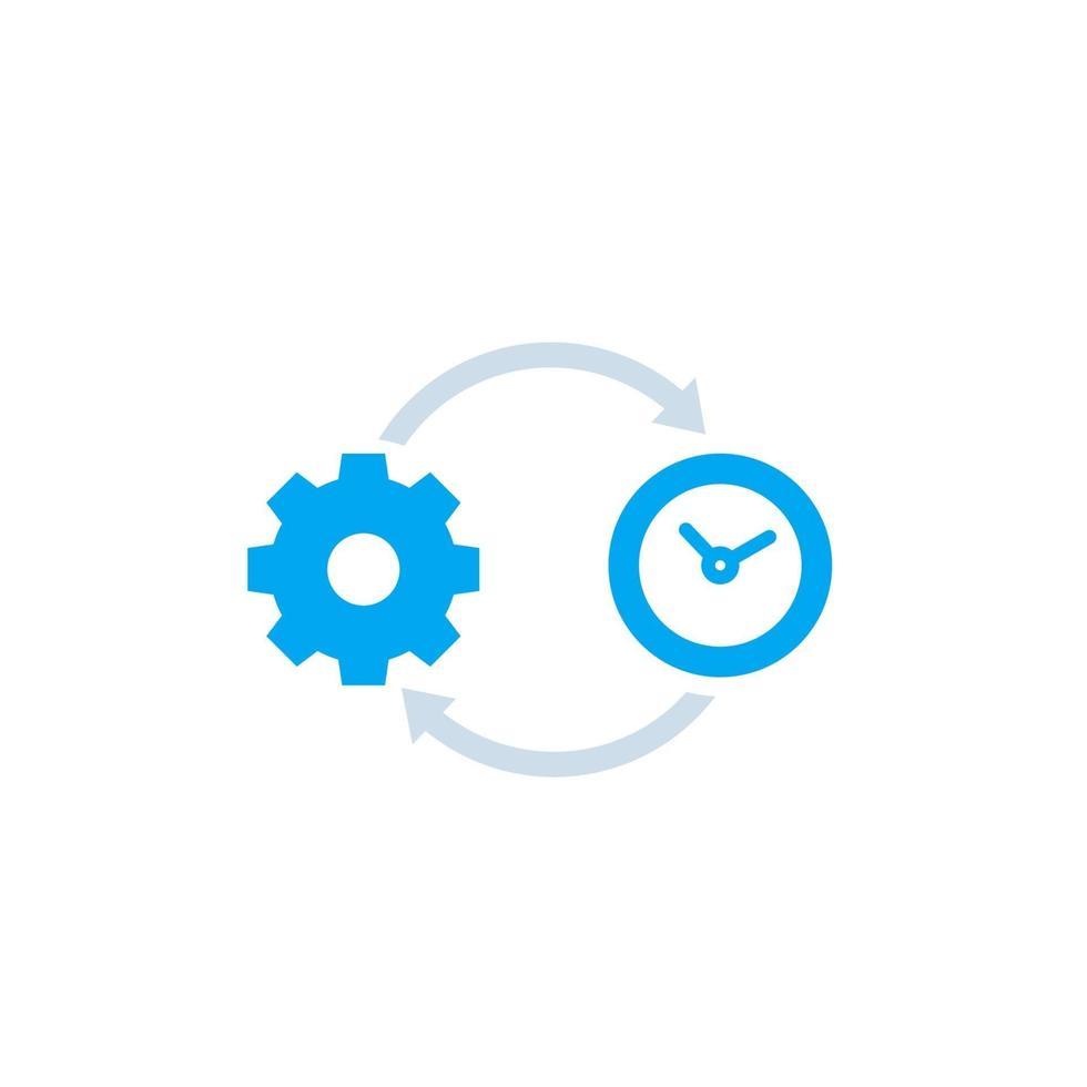 Produktivität, Produktionseffizienz vector icon.eps
