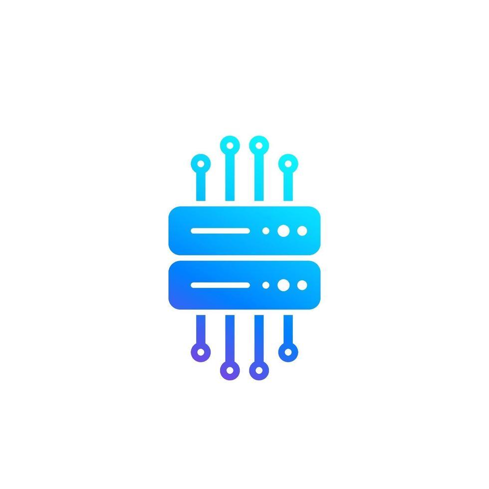 Mainframe, Remote-Server icon.eps vektor