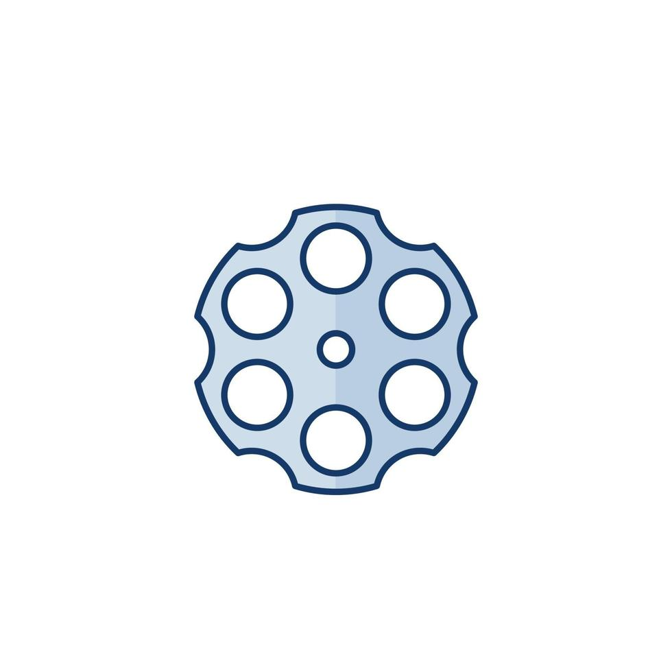 Zylinder eines Revolvers, Symbol isoliert auf white.eps vektor