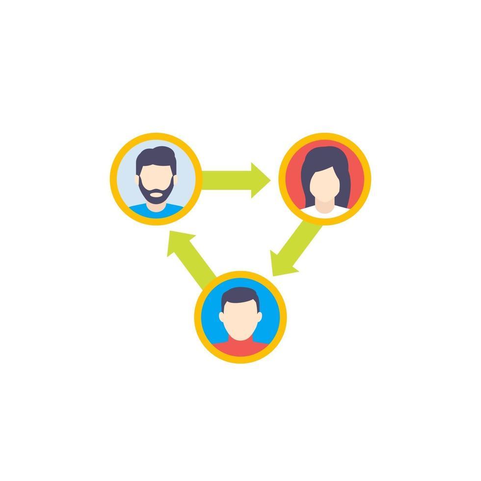 människor som interagerar eller teaminteraktion icon.eps vektor