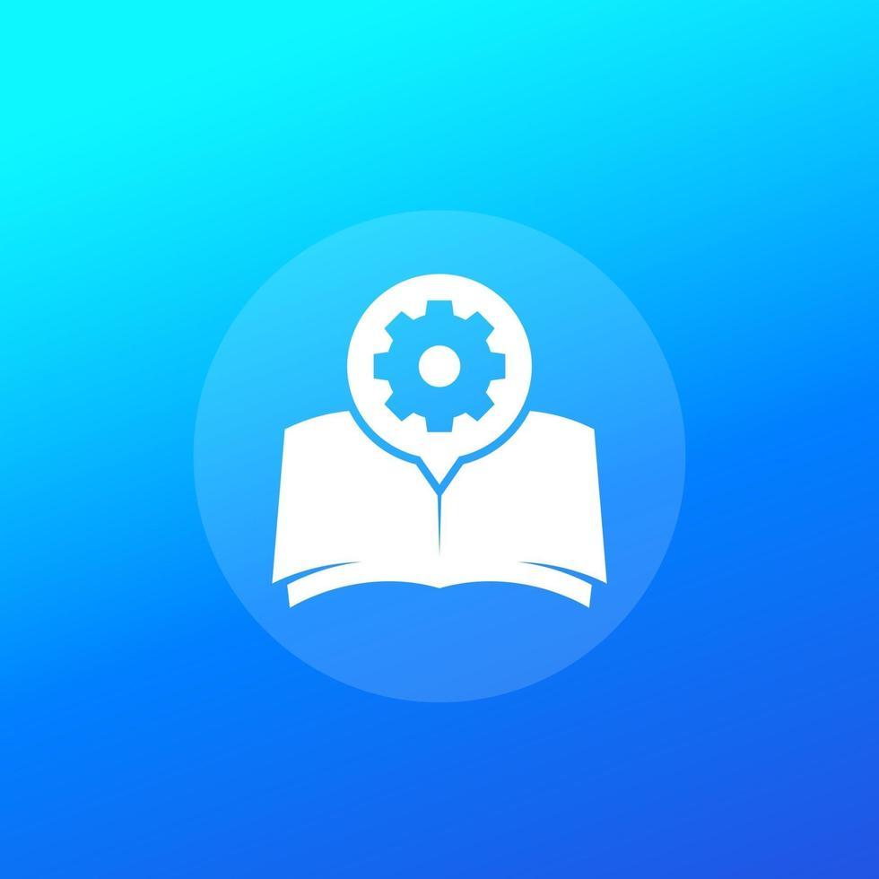 Handbuch, Anleitung oder Bedienungsanleitung vector icon.eps