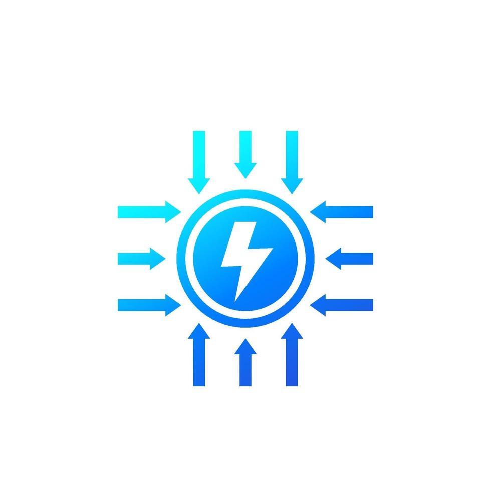 Strom und elektrische Energie icon.eps vektor