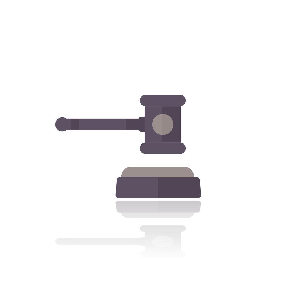 Auktionshammer oder Hammervektor icon.eps vektor