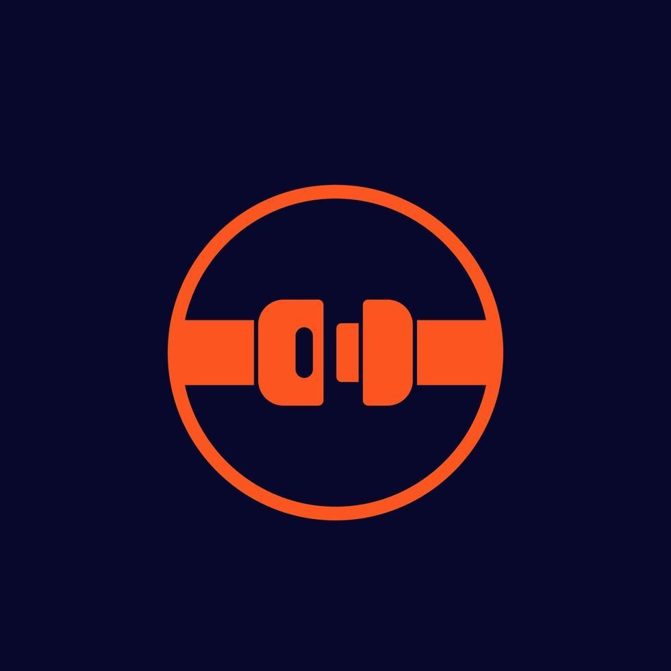 säkerhetsbälte ikon, vector sign.eps