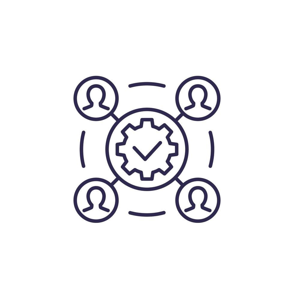 Projektausführung, Geschäftsbereich icon.eps vektor