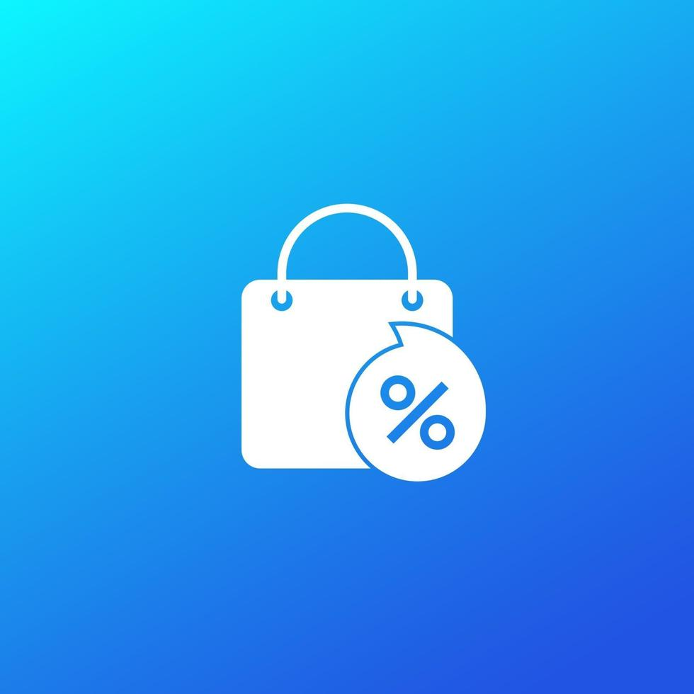 Rabatt, Verkaufssymbol mit Tasche, vector.eps vektor