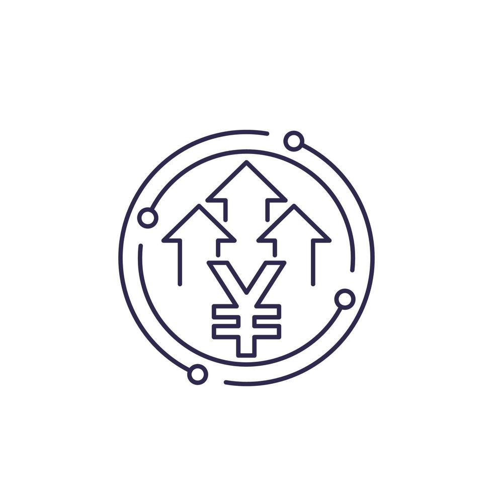 Yen-Symbol mit Pfeilen, vector.eps vektor
