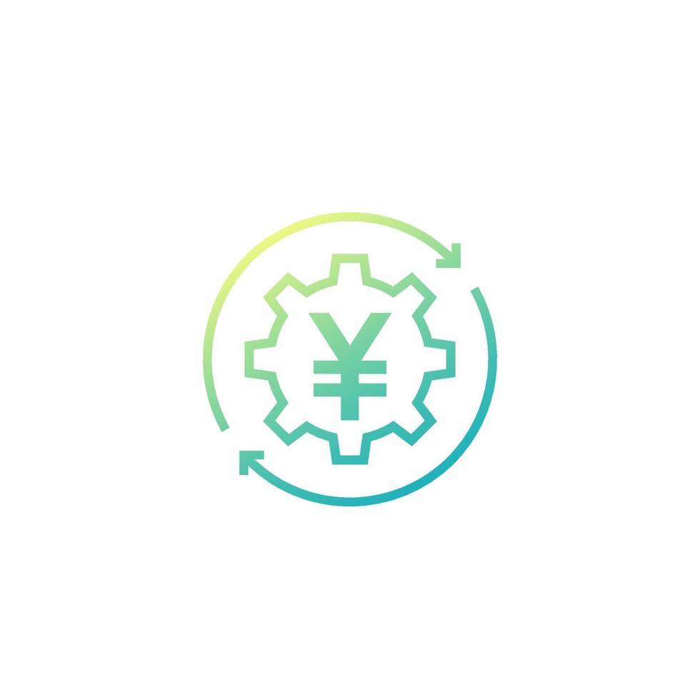 penningväxlingsikon med yen, vector.eps vektor