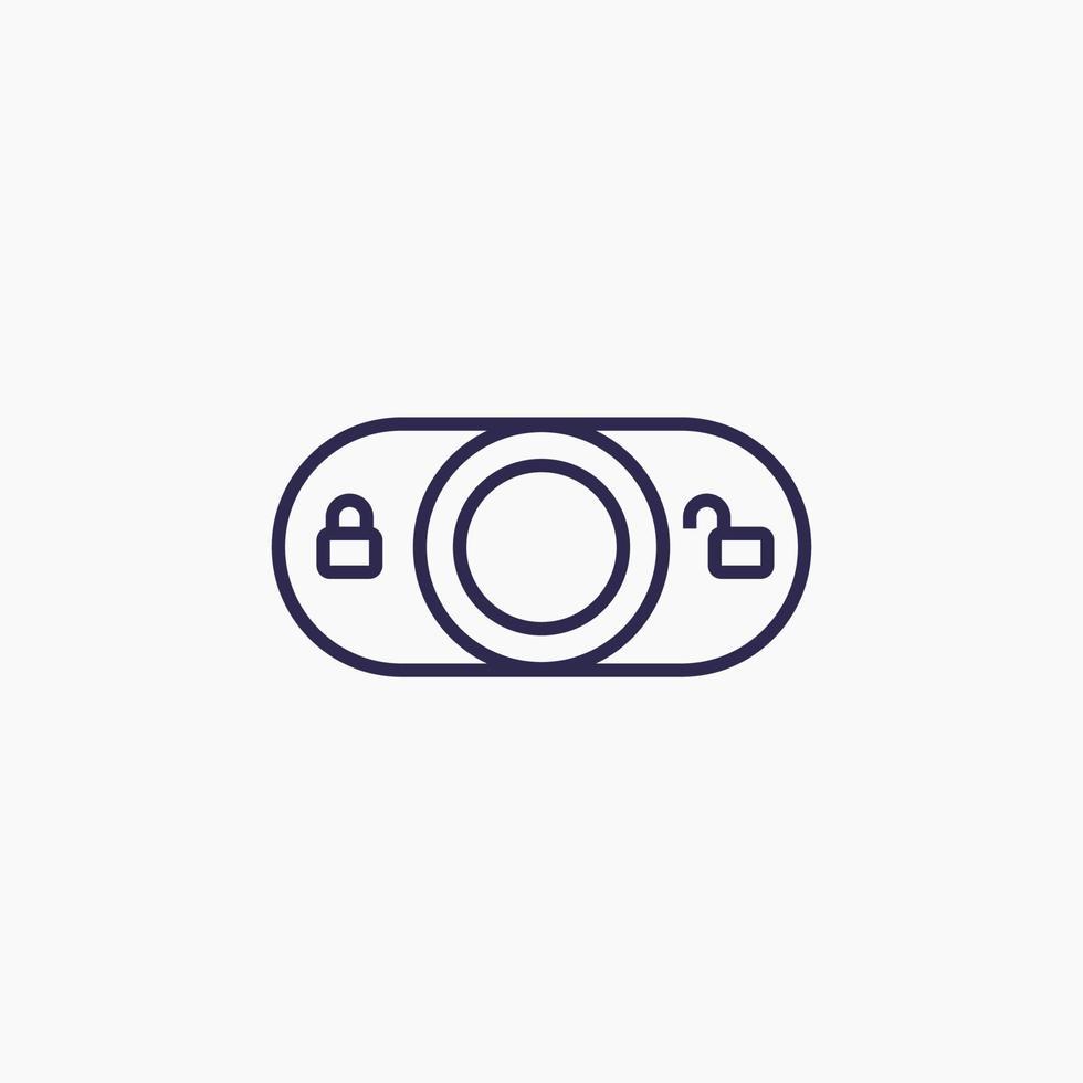 Sperrschalter Vektor Linie icon.eps