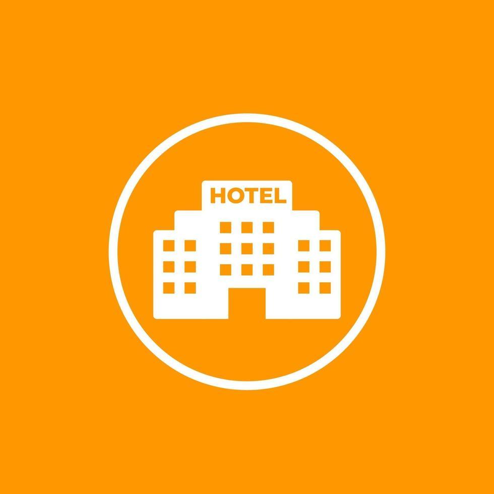 Hotelgebäude Ikone, Vektor design.eps