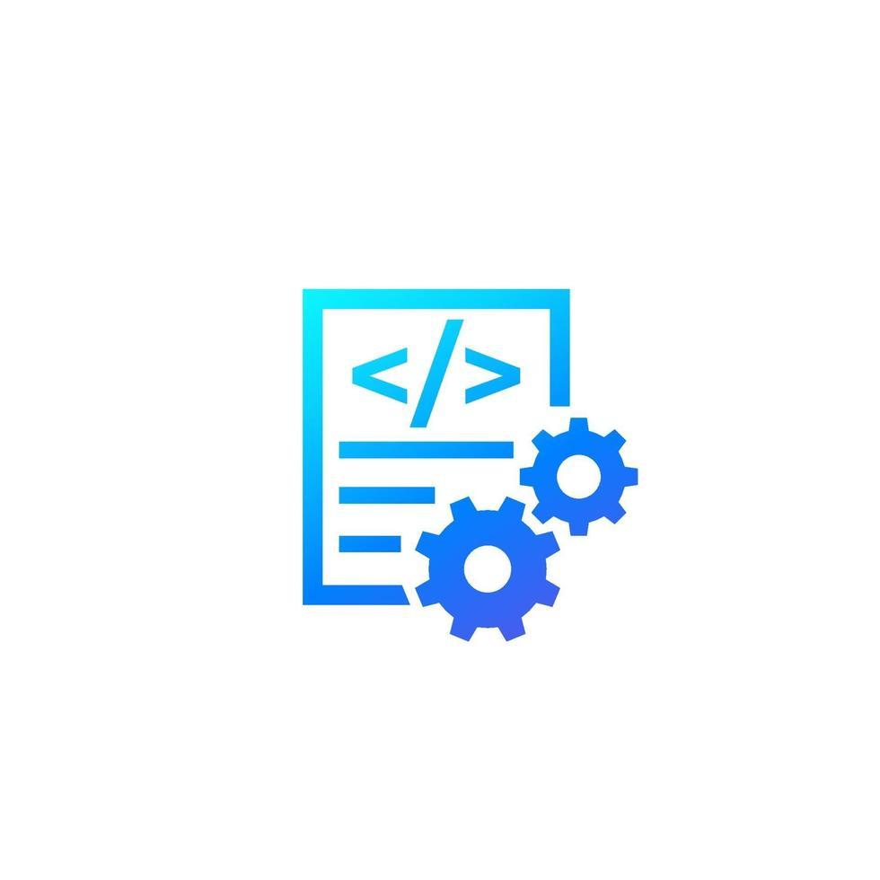 kod optimering vektor ikon på white.eps