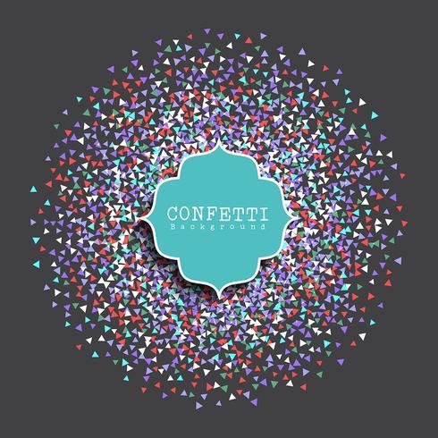 Konfetti-Hintergrund vektor