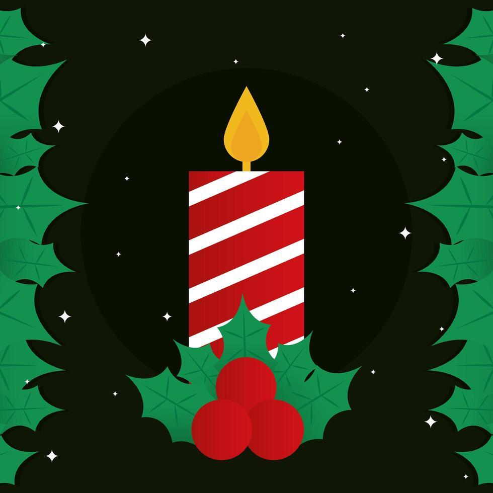 Frohe Weihnachten Kerze Vektor-Design vektor