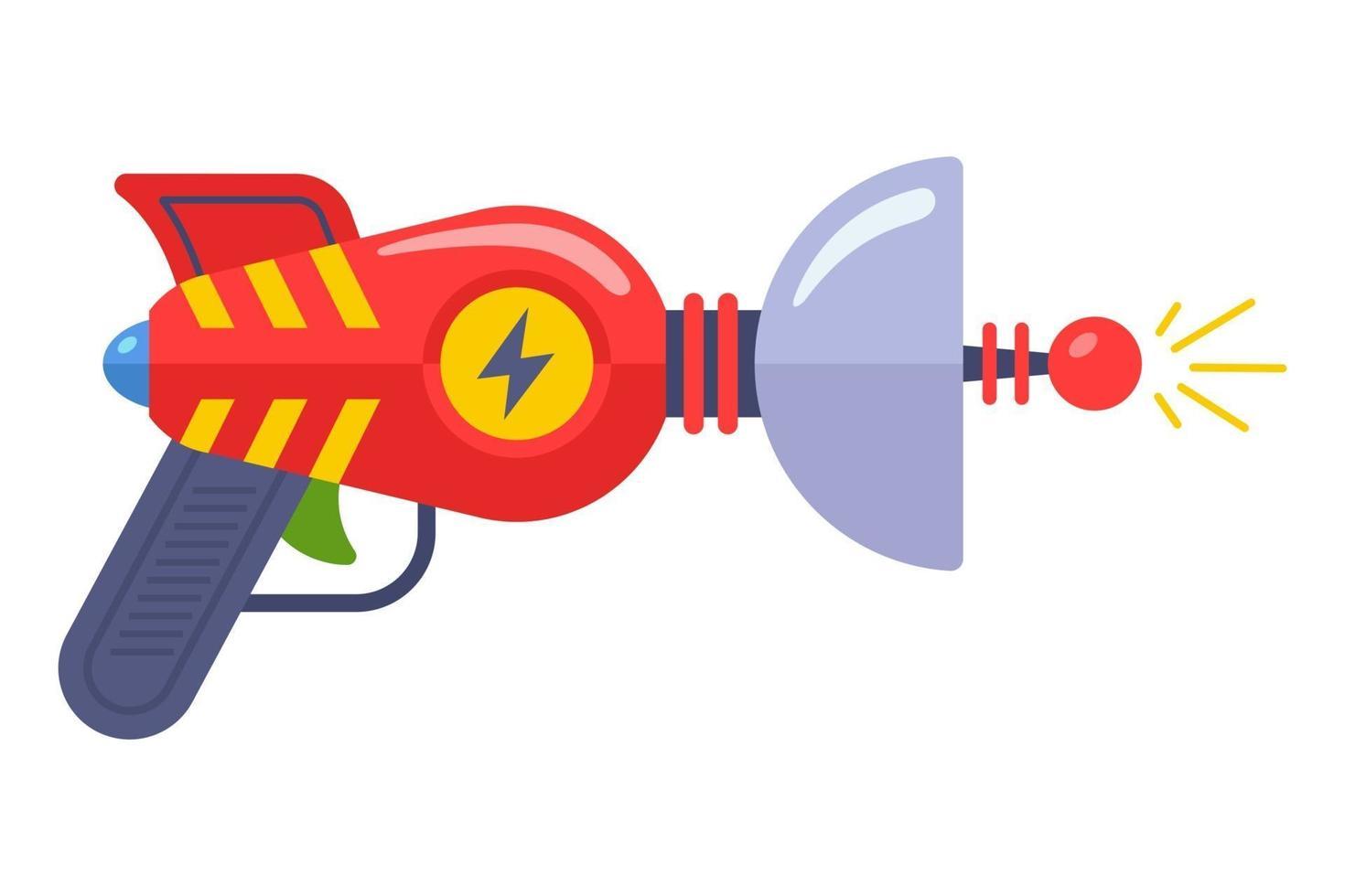 Alien Toy Gun aus den 60ern. fantastische Waffe. flache Vektorillustration. vektor