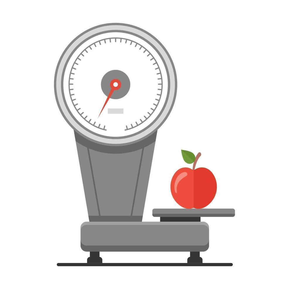 väga äpplen på vågen. hälsosam matmarknad. platt vektorillustration. vektor
