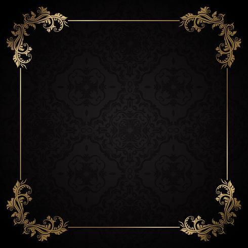 Schwarzes und Golddekorativer Hintergrund vektor