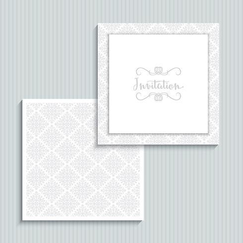Hochzeitseinladungsdesign vektor