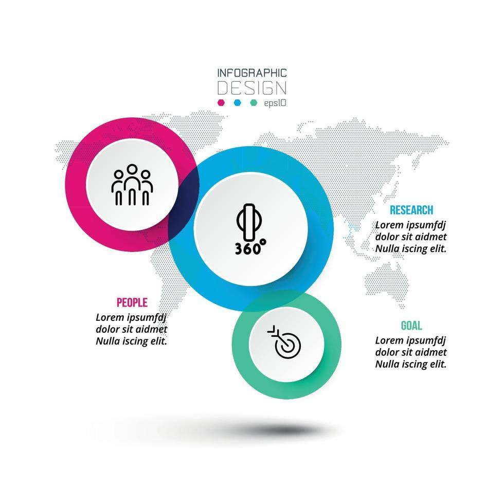 Business- oder Marketing-Infografik-Template-Design. vektor