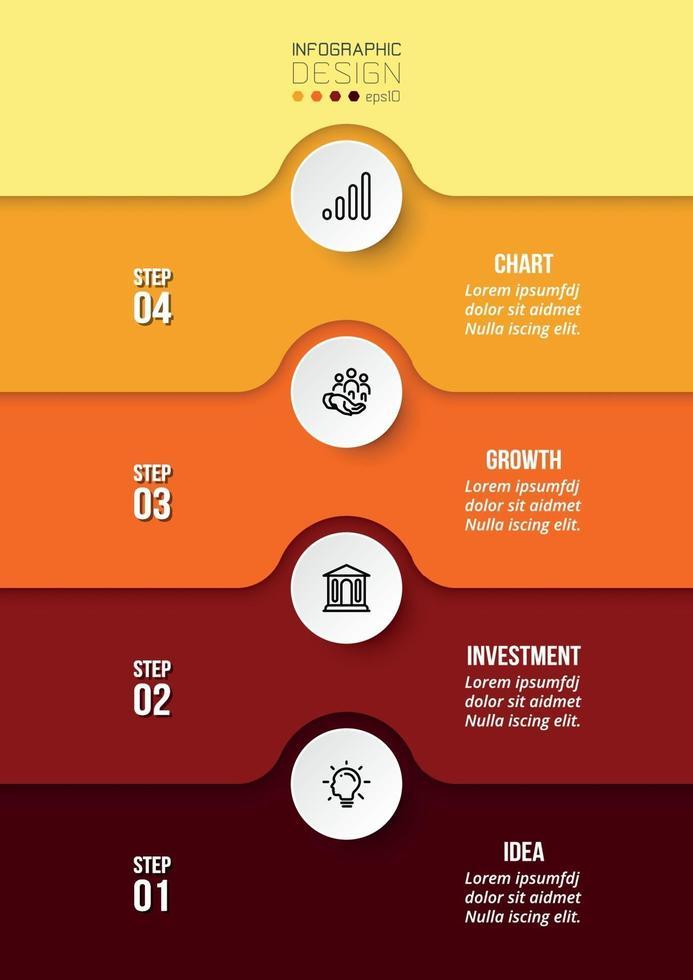 Design von Infografik-Geschäfts- oder Marketingvorlagen. vektor