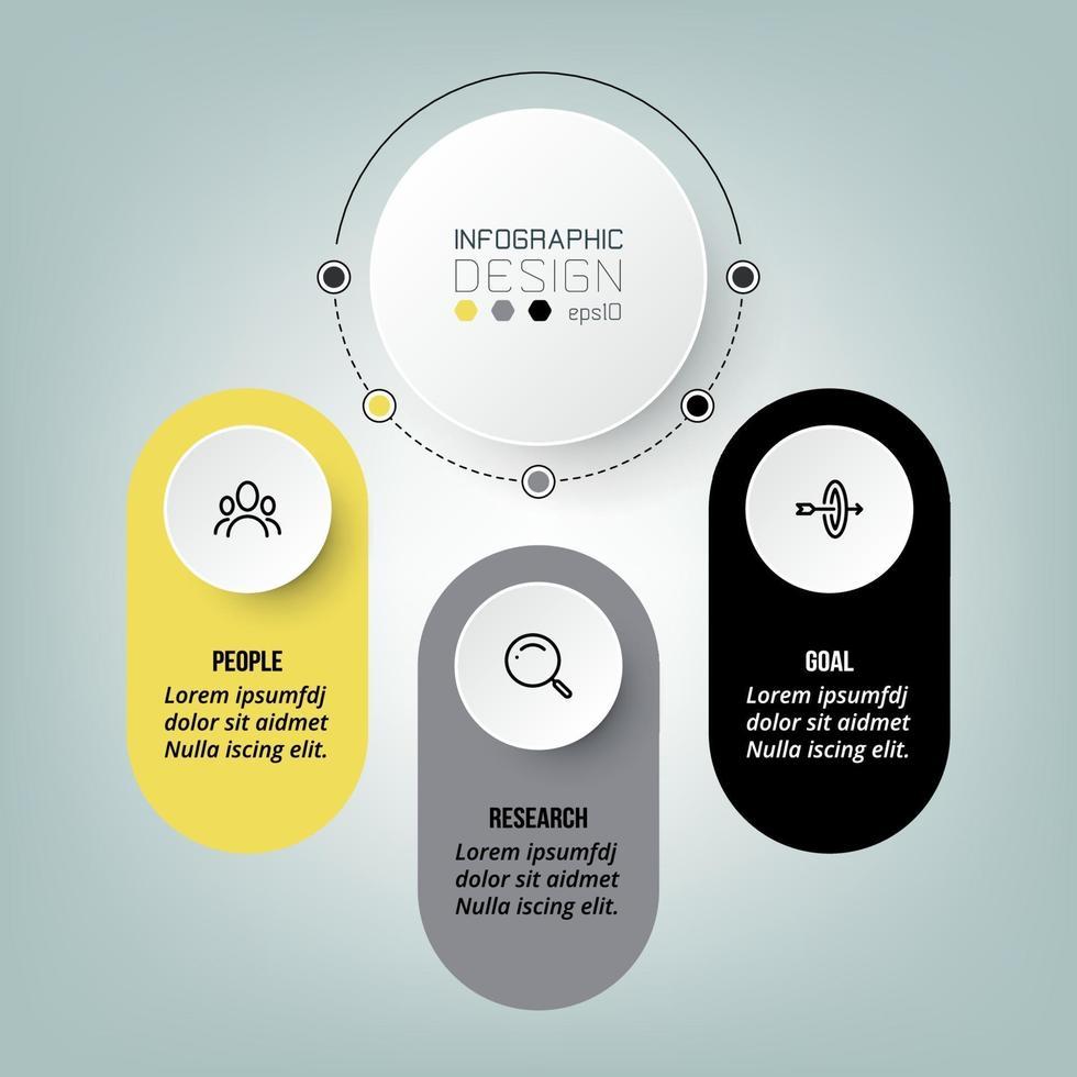 Infografik Diagramm Business Template Design. vektor