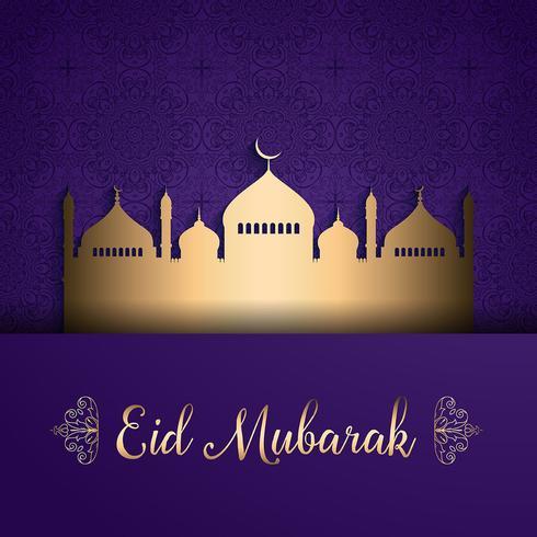 Eid mubarak bakgrund vektor